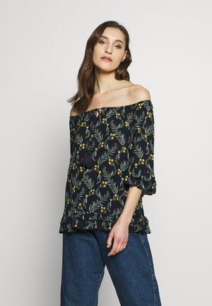 BOHO TOP - Blouse - navy/print