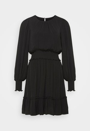 JESSICA LONG SLEEVE SMOCK DRESS - Kjole - black