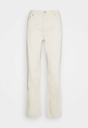 BARREL - Straight leg jeans - ecru