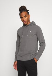 Abercrombie & Fitch - ICON HOOD - Jersey con capucha - grey - 0