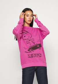 Levi's® - LEVI'S X PEANUTS UNBASIC CREW - Sweater - fuschia red - 0