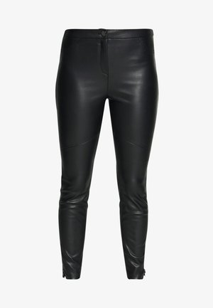 PLEATHER - Trousers - black