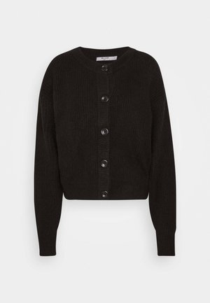 CREW NECK CARDIGAN - Cardigan - black