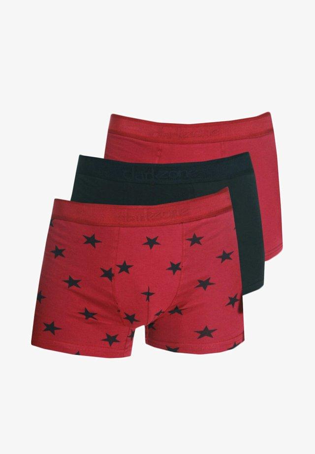 3PACK - Pants - rot/schwarz