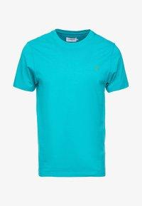 DENNY SLIM - T-shirt basic - turquoise green marl
