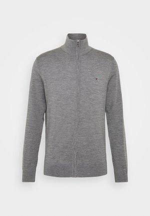 LUXURY ZIP THROUGH - Cardigan - grey