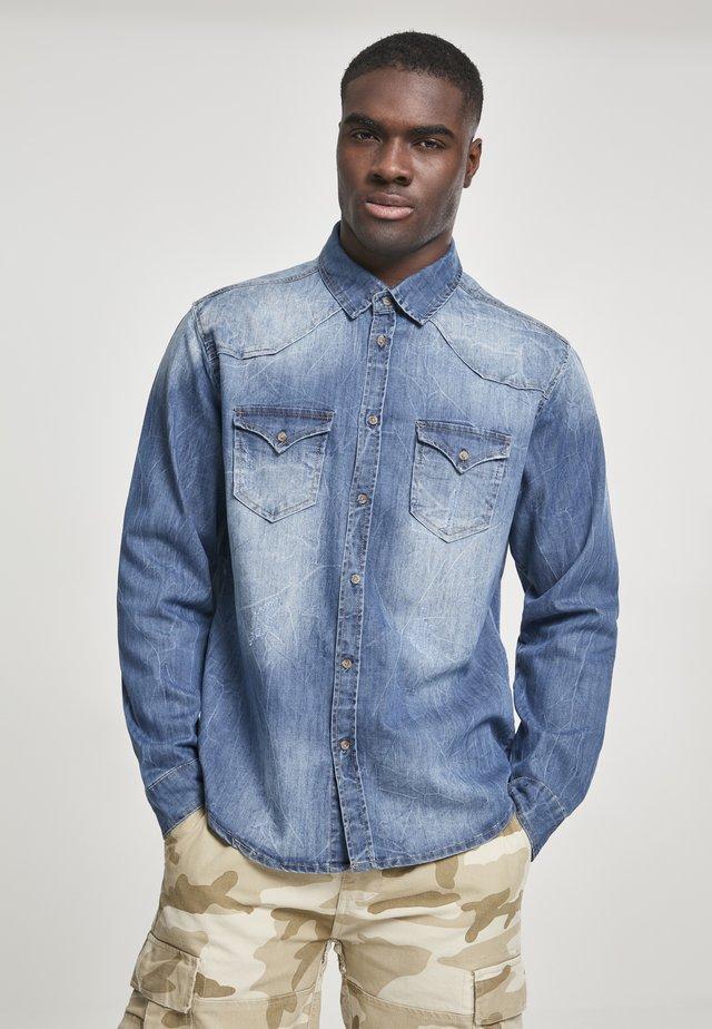 HERREN RILEY DENIMSHIRT - Overhemd - denim blue