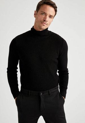SLIM FIT - Jumper - black