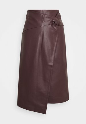 KNOT SIDE MIDI SKIRT - A-line skirt - purple