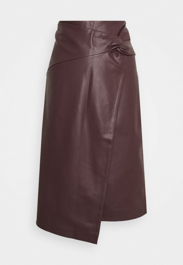 KNOT SIDE MIDI SKIRT - A-lijn rok - purple