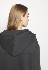 NU-IN - ELASTICATED HEM HALF ZIP HOODIE - Sweatshirt - dark grey - 4