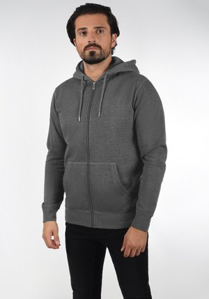 BERTIZIP - Sweater met rits - grey melange