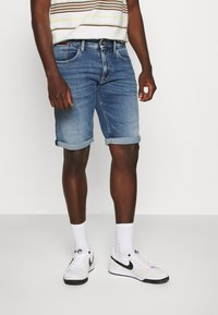 Tommy Jeans - RONNIE - Denim shorts - blue denim - 0