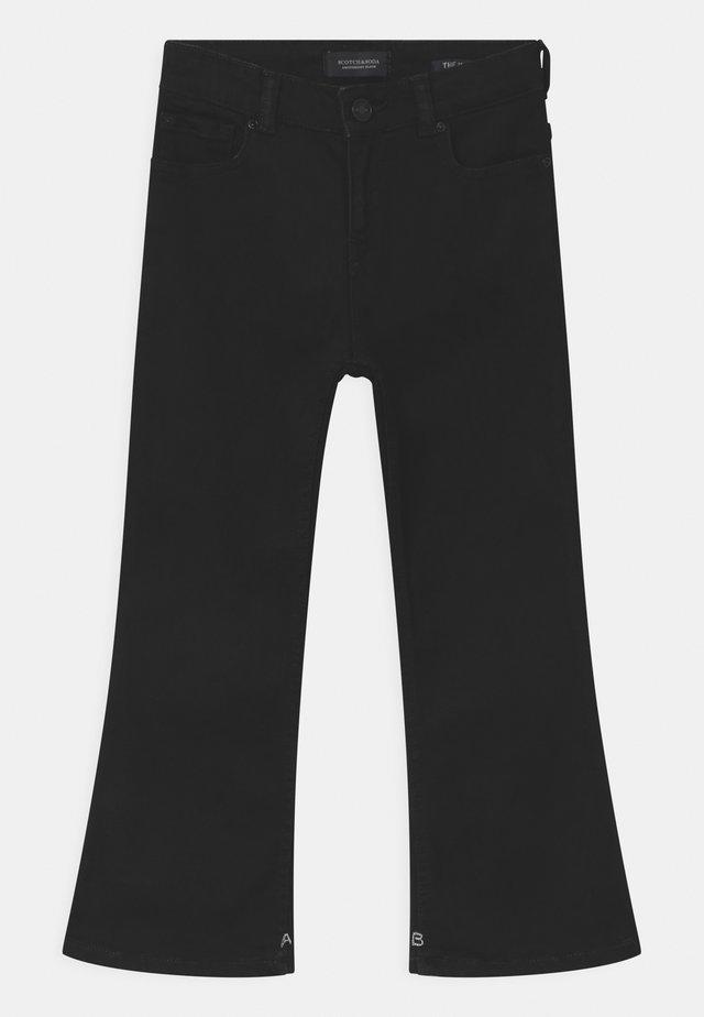 THE KICK - Bootcut jeans - black shadow