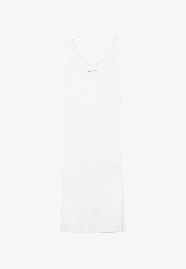 MICRO BRANDING STRAPPY - Sukienka etui - bright white