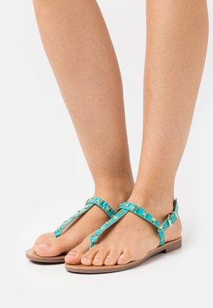 ONLMELLY STRUCTURE STUD  - T-bar sandals - blue