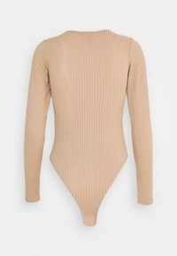 New Look - CARLEY SEAM DETAIL BODY - T-shirt à manches longues - camel - 1