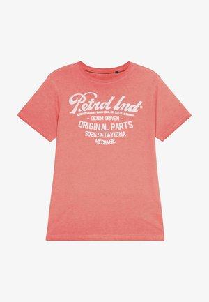 Print T-shirt - fiery coral