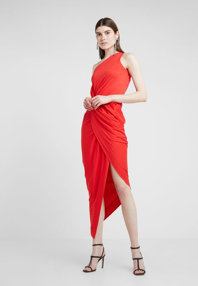 ONE SHOULDER VIAN DRESS - Vestito lungo - red