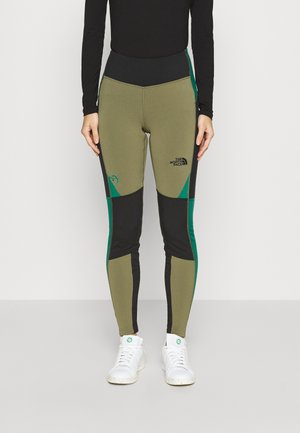 STEEP TECH - Leggings - Trousers - burnt olive green/tnf black/evergreen