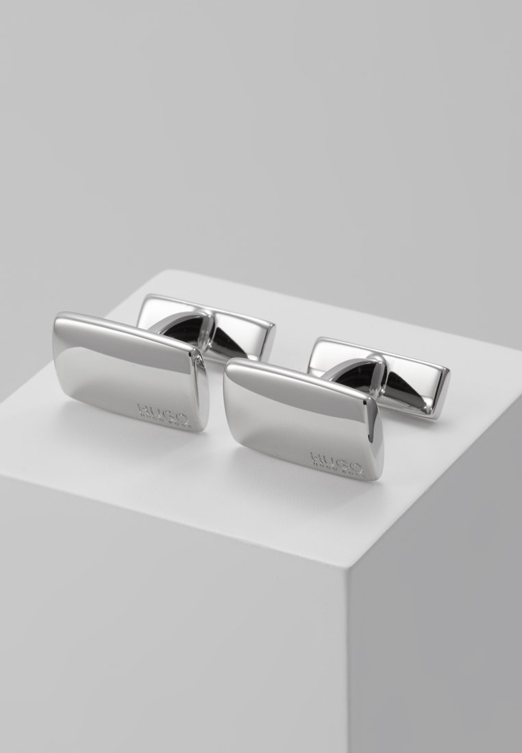 HUGO - E-LIBERTY  - Spinka do mankietów - silver-coloured