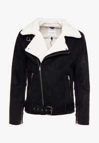BIKER JACKET - Faux leather jacket - black