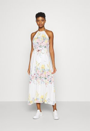 ONLALMA LIFE LONG DRESS - Vestito lungo - cloud dancer/summer botanic