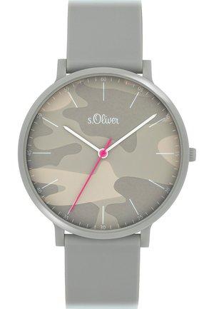 S.OLIVER UNISEX-UHREN ANALOG QUARZ - Watch - grau