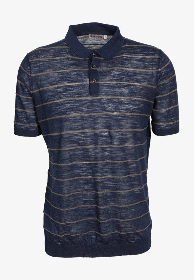 Polo shirt -  navy/ khaki