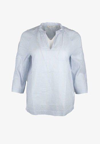 Blouse - white, light blue