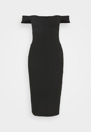OFF SHOULDER SWEETHEART DRESS - Sukienka etui - black