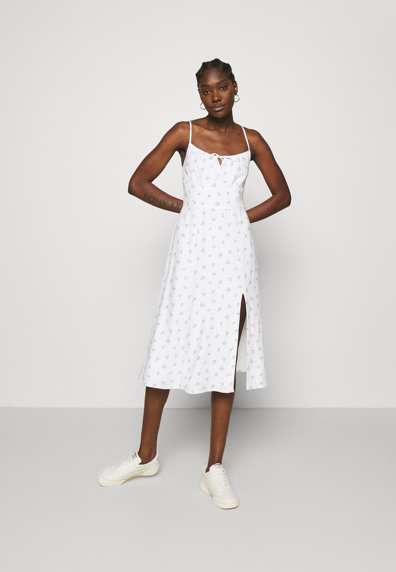 Abercrombie & Fitch - PRINT MIDI DRESS - Day dress - white grounded
