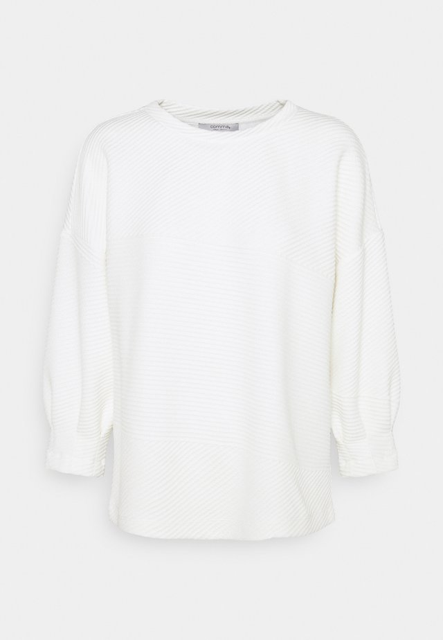 Langærmede T-shirts - light creme