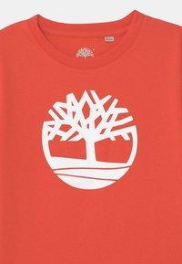 Timberland - SHORT SLEEVES  - Print T-shirt - red - 2