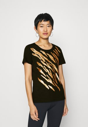 LEEVA - Print T-shirt - black/gold