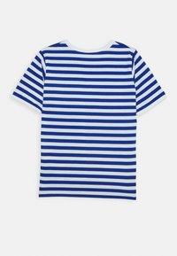 Marimekko - LASTEN LYHYTHIHA - T-shirt imprimé - white/blue - 1