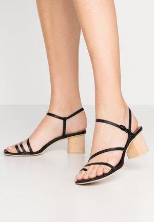 ZYDA - T-bar sandals - black