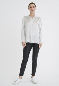 InWear - LEONORE  - Button-down blouse - black/white - 1