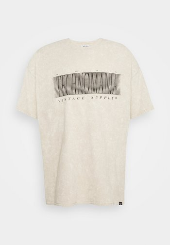 FRONT PRINT TEE - Print T-shirt - sand