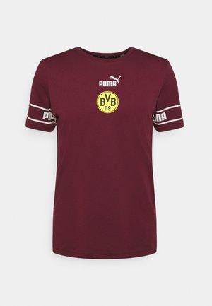 BVB BORUSSIA DORTMUND CULTURE TEE - Club wear - burgundy