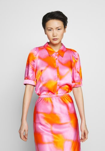 TULLE - Button-down blouse - tangerine