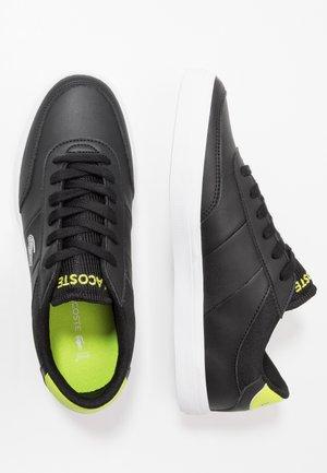 COURT MASTER  - Baskets basses - black/light green