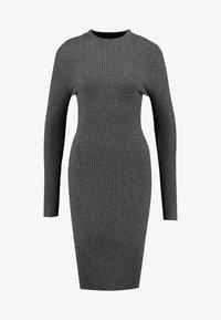 Zalando Essentials - Shift dress - dark grey mélange - 5