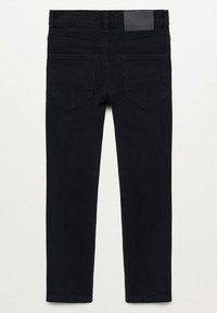Mango - REGULAR - Straight leg jeans - black denim - 1