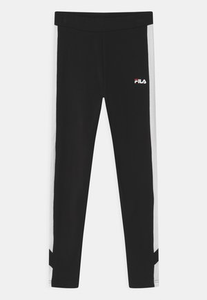 LAYA BLOCKED  - Leggings - Trousers - black/bright white