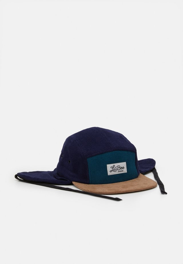CORDUROY BLOCK  PANEL EARS - Cap - green/blue