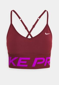 Nike Performance - INDY PRO MIRAGE BRA - Sport BH - dark beetroot/vivid purple/metallic silver - 4