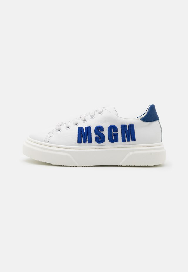 UNISEX - Sneakers laag - white/neon blue