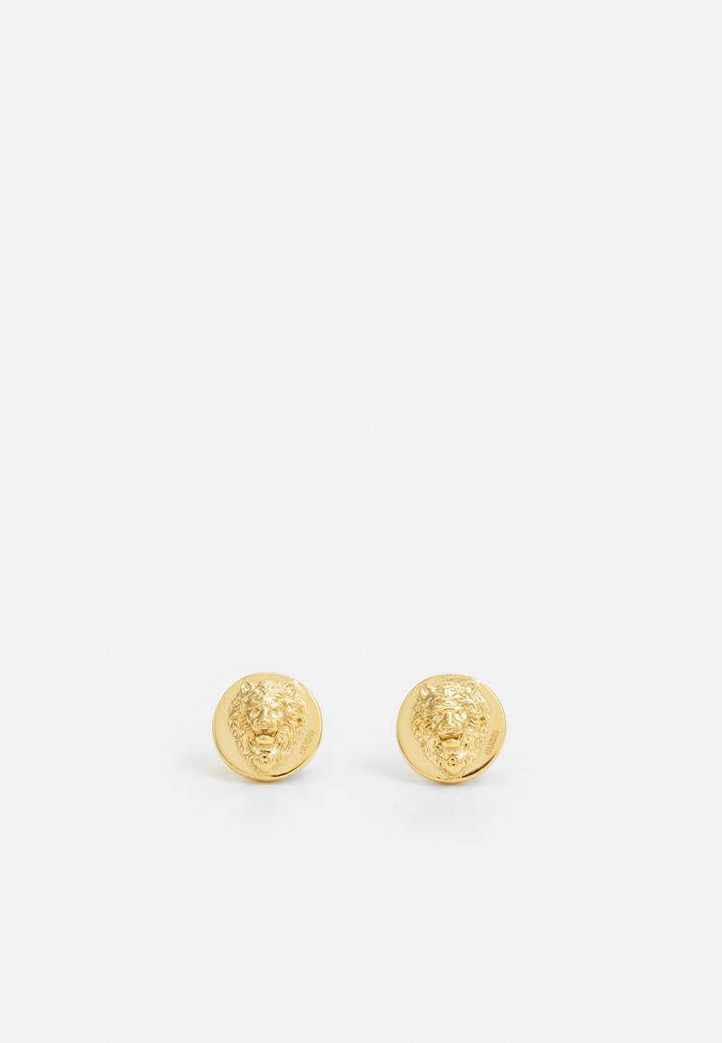 Guess - LION HEAD STUD UNISEX - Earrings - gold-coloured shiny
