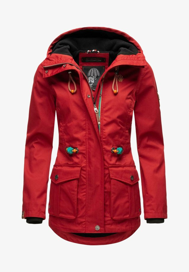 Parkas - cherry red